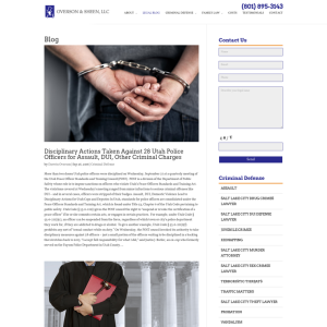 Utah Criminal Defense Blog