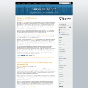 Vorys on Labor