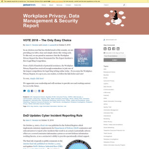 Workplace Privacy, Data Management, & Security Report