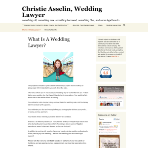 Christie Asselin, Wedding Lawyer