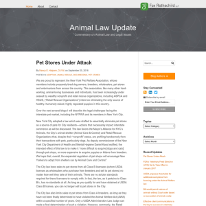 Animal Law Update