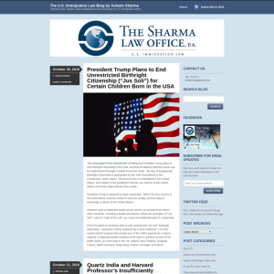 The U.S. Immigration Law Blog by Ashwin Sharma