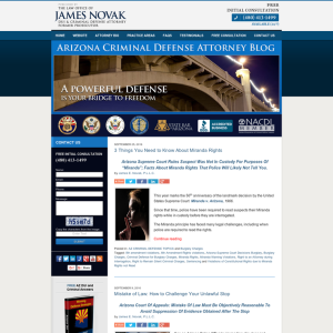 Arizona Criminal Defense Attorney Blog