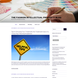 The Fashion Intellectual Property Blog