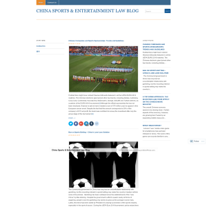 China Sports & Entertainment Law Blog
