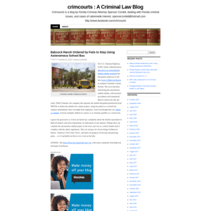 crimcourts : A Criminal Law Blog