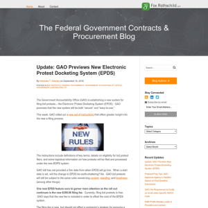 The Federal Government Contracts & Procurement Blog