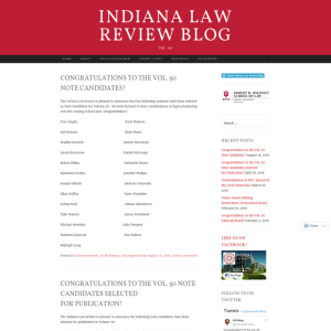 Indiana Law Review Blog