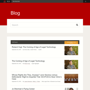 Stanford Law School Blog
