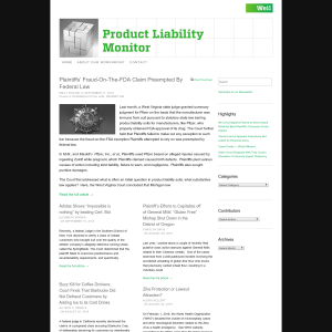 Product Liability Monitor