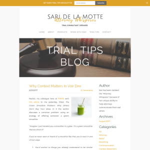 Trial Tips Blog