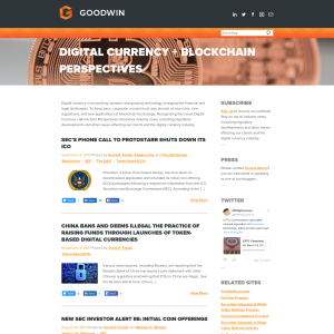 Goodwin Digital Currency + Blockchain Perspectives Blog