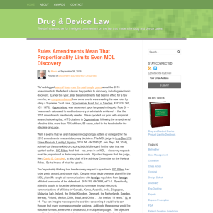 Drug & Device Law