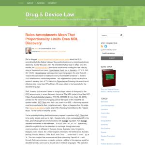 Drug & Device Law