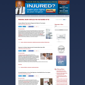 NJ Personal Injury Blog