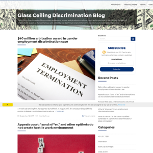 Glass Ceiling Discrimination Blog