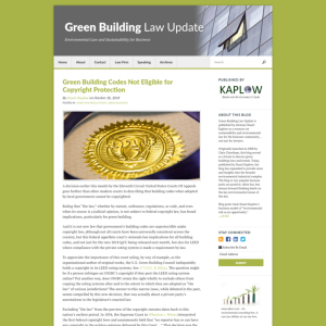 Green Building Law Update
