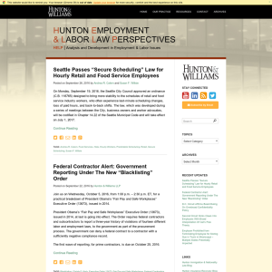 Hunton Employment & Labor Law Perspectives