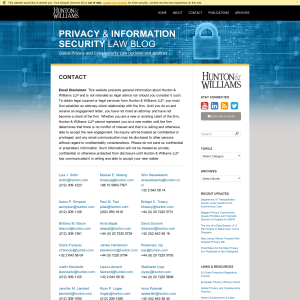 Privacy & Information Security Law Blog