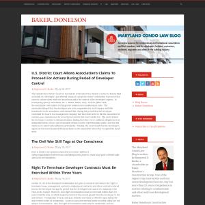 Maryland Condo Lawyer Blog