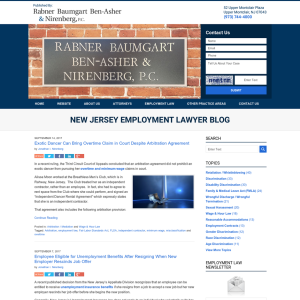 New Jersey Employment Lawyer Blog