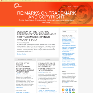Re: Marks on Copyright and Trademark