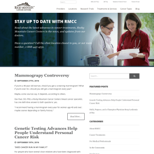 Rocky Mountain Cancer Center Blog