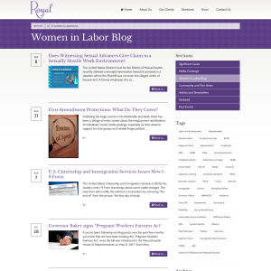 Women in Labor: Developments in Labor and Employment Law