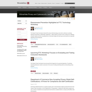 WilmerHale Privacy and Cybersecurity Law Blog