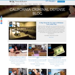 California Criminal Defense Blog
