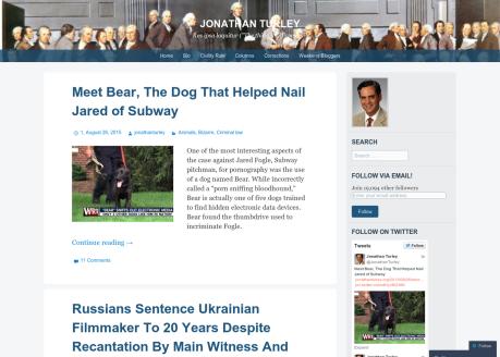 Jonathan Turley Law Blog