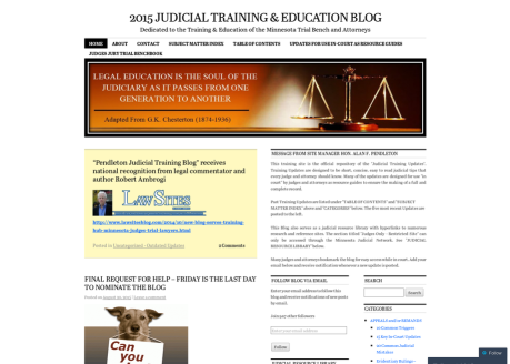 2015 Judicial Training & Education Blog