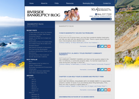 Riverside Bankruptcy Blog