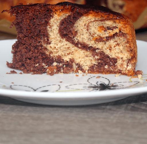 Torta zebrata mandorle e cacao