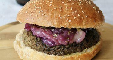 Ricetta panini per hamburger Bun e burger vegetariano di legumi