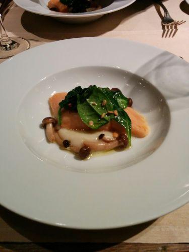 Restaurant Garden Bayerischer Hof Monaco di Baviera - fregole sarde, fette di zucca, cerfoglio e maroni