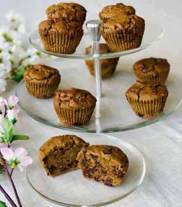 muffin senza glutine all'avocado e tocchetti di cioccolato fondente