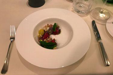 Edvard Restaurant Vienna - carpaccio di manzo e verdure croccanti