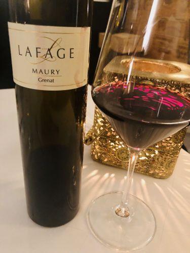 ristorante valentin a lindau - vino rosso da dessert domaine lavage maury grenat 2017