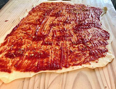 streghette - sfoglia pasta con concentrato di pomodoro