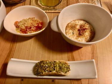 Taverna Migliore a Modica - tacos siciliano con gambero rosso e spuma di ricotta dello chef Lorenzo Ruta