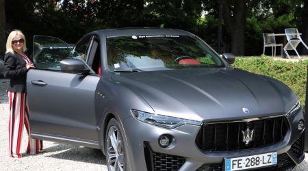 Madame Annino la Dolce Vita in Maserati @ institut Bernard Magrez.