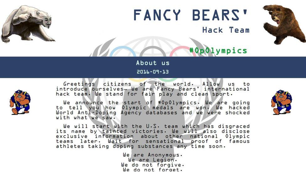 fancy bears olympics hack