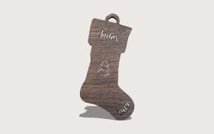 Cute Christmas Stocking Ornament Personalizable Scroll Saw Pattern The Holz Brothers