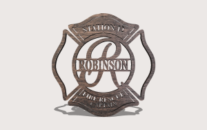 Firefighter Badge Split Monogram Personalizable Scroll Saw Pattern The Holz Brothers