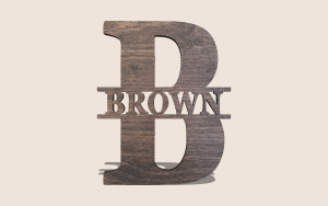 Simple Split Monogram Customizable Scroll Saw Pattern The Holz Brothers