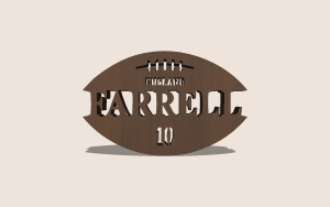 Football & Rugby Split Monogram Printable Scroll Saw Pattern The Holz Brothers