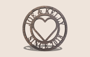 Round Love Plaque Digital Scroll Saw Pattern The Holz Brothers