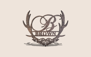 Intricate Antler Monogram Printable Scroll Saw Pattern The Holz Brothers