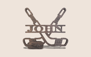 Hockey Split Monogram Customizable Scroll Saw Pattern The Holz Brothers